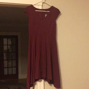 Ann Taylor wine-colored cocktail dress